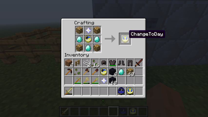 minecraft how to change time of day